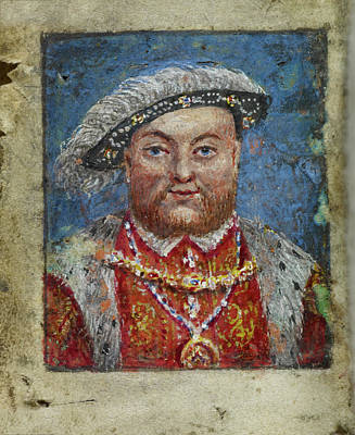 16th Century Photograph - Portrait Of Henry Viii by British Library