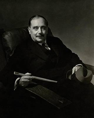 Reclining Chairs Photograph - Portrait Of Herbert George Wells by Edward Steichen