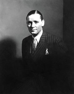 Pinstripes Photograph - Portrait Of Herbert Marshall by Edward Steichen