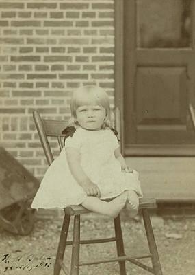 Marius Drawing - Portrait Of Herman Marius Boelen Born 1885 As A Baby by Artokoloro