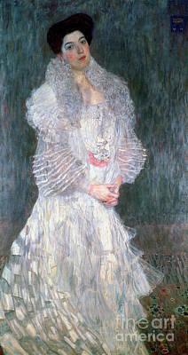Gown Painting - Portrait Of Hermine Gallia by Gustav Klimt