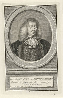 Portrait Of Hieronymus Van Beverningk, Jacob Houbraken Art Print