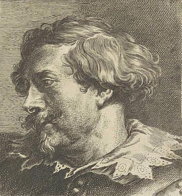 Self-portrait Drawing - Portrait Of Hubrecht Van Den Eynde, Monogrammist F by Lucas Vorsterman (i)