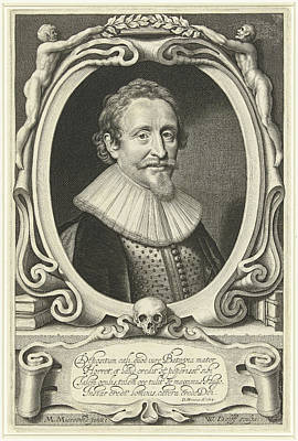 Hugo Drawing - Portrait Of Hugo Grotius, Hugo De Groot, At The Age Of 49 by Artokoloro