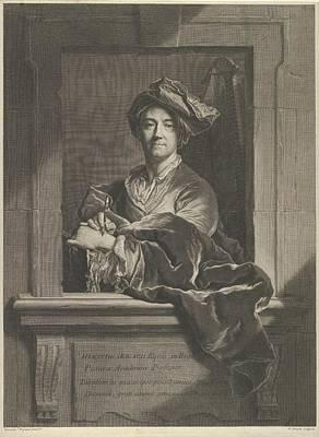 Portrait Of Hyacinthe Rigaud Art Print