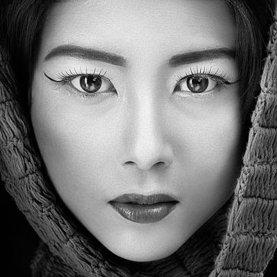 Eyelash Photograph - Portrait Of Icha by Arief Siswandhono