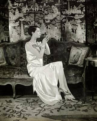 1920s Fashion Photograph - Portrait Of Ilka Chase Wearing Dress By Chanel by Charles Sheeler