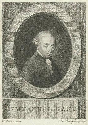 Portrait Of Immanuel Kant, Lambertus Antonius Claessens Art Print