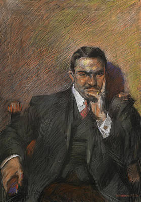Portrait Of Innocenzo Massimino Art Print by Umberto Boccioni