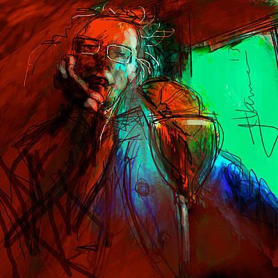 Digital Art - Portrait Of Ira by Jim Vance