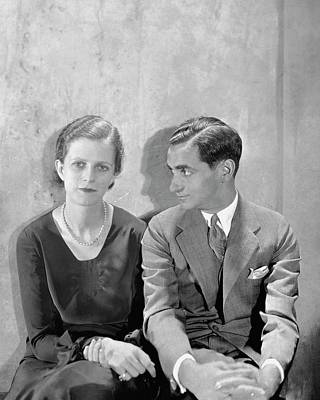 Photograph - Portrait Of Irving Berlin And His Wife by Cecil Beaton