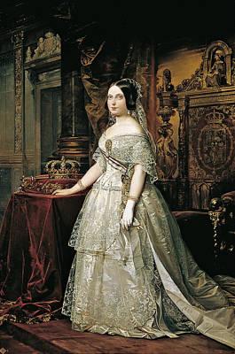 Federico De Madrazo Painting - Portrait Of Isabella II by Federico de Madrazo y Kuntz