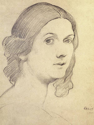 Moscow Drawing - Portrait Of Isadora Duncan by Leon Bakst