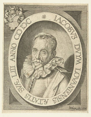Family Crest Drawing - Portrait Of Jacob Duym At The Age Of 53, Jacob De Gheyn II by Jacob De Gheyn Ii And Bonaventura Vulcanius