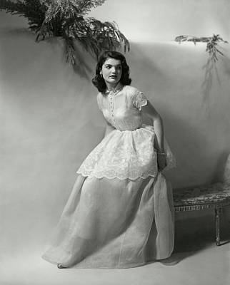 Full Skirt Photograph - Portrait Of Jacqueline Kennedy Onassis by Frances McLaughlin-Gill