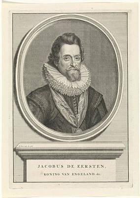 Portrait Of James I, King Of England, Bernard Picart Art Print by Quint Lox