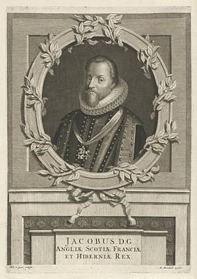 Portrait Of James I Of England, Philip Van Gunst Art Print