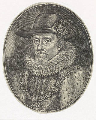 Portrait Of James I, Simon Van De Passe Art Print