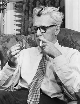 Portrait Of James Thurber Art Print by Fred Palumbo