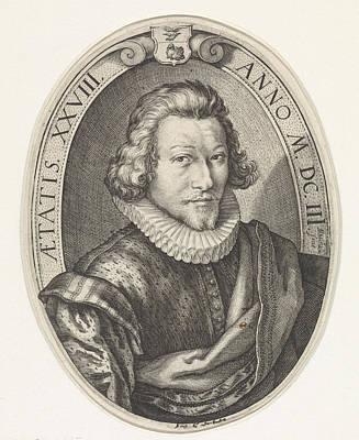 Portrait Of Jan Centen Coster Art Print