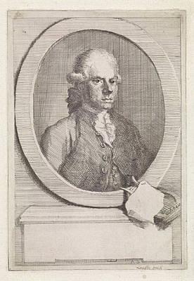 Os Painting - Portrait Of Jan Van Os, Aert Schouman by Aert Schouman