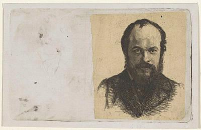 Self-portrait Drawing - Portrait Of Jan Weissenbruch, Print Maker Frederik Hendrik by Frederik Hendrik Weissenbruch