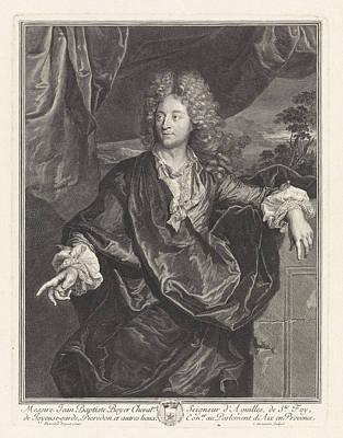 Provence Drawing - Portrait Of Jean Baptiste Boyer Deguilles by Cornelis Martinus Vermeulen