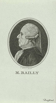 French Leaders Drawing - Portrait Of Jean Sylvain Bailly, 1736 - 1793, A French by Quint Lox
