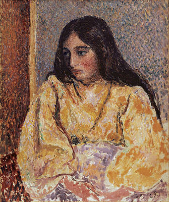 Lost In Thought Painting - Portrait Of Jeanne, Circa 1893 by Camille Pissarro