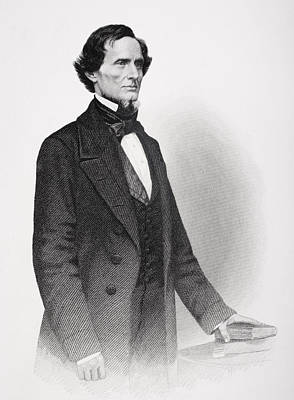 Portrait Of Jefferson Davis Art Print