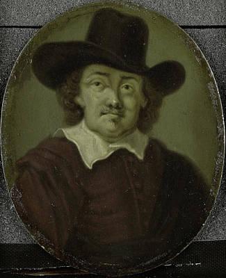 Van Halen Drawing - Portrait Of Jeremias De Decker, Poet In Amsterdam by Litz Collection