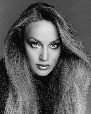 Photograph - Portrait Of Jerry Hall by Francesco Scavullo