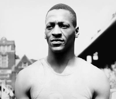 Portrait Of Jesse Owens Art Print