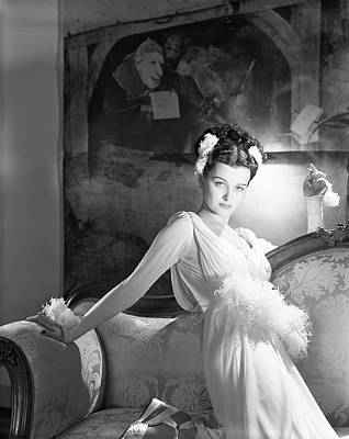 Updo Photograph - Portrait Of Joan Bennett In Costume by Horst P. Horst