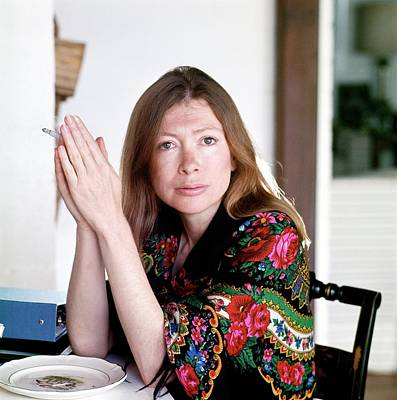 Room Photograph - Portrait Of Joan Didion by Henry Clarke