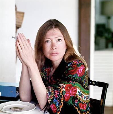 Portrait Of Joan Didion Art Print