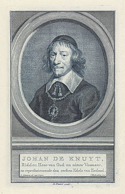 Portrait Of Johan De Knuyt, Jacob Houbraken Art Print
