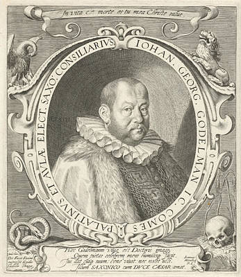 Pelican Drawing - Portrait Of Johann Georg Gdelmann, Aegidius Sadeler by Aegidius Sadeler And Johannes Nienborg