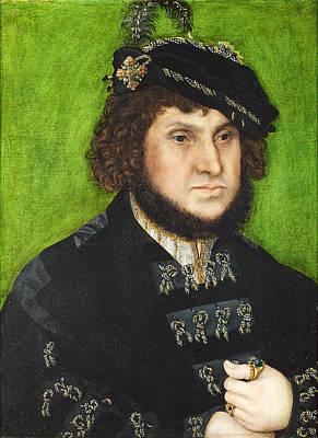 Portrait Of Johann The Steadfast Art Print