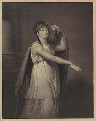 Epic Drawing - Portrait Of Johanna Cornelia Ziesenis-wattier by Willem Van Senus And Charles Howard Hodges