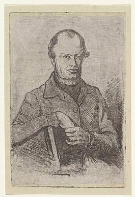 Self-portrait Drawing - Portrait Of Johannes Adrianus Van Der Drift by Jan Weissenbruch
