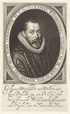 Portrait Of Johannes Wtenbogaert At The Age Of 62 Art Print by Willem Jacobsz. Delff