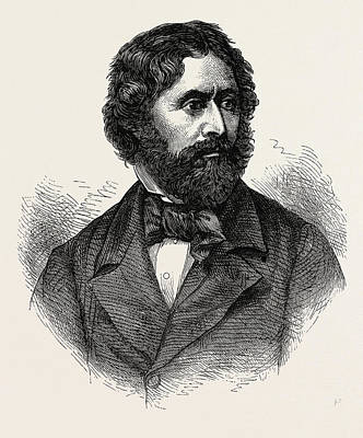 Portrait Of John Charles Fremont, He Was An American Art Print
