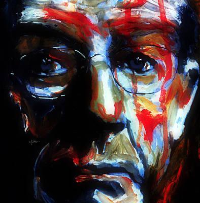 Mixed Media - Portrait Of John Hurt by Jim Vance
