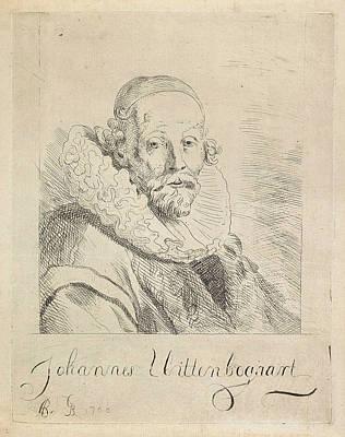 Gb Drawing - Portrait Of John Wtenbogaert, Monogrammist Gb Noordelijke by Monogrammist Gb