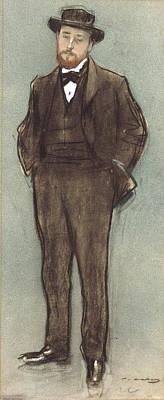 Drawing - Portrait Of Josep Codina by Ramon Casas