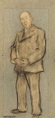 Drawing - Portrait Of Josep Parera by Ramon Casas