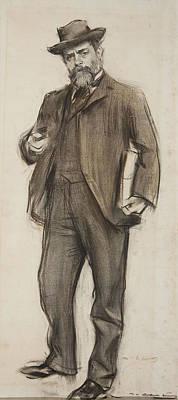 Drawing - Portrait Of Josep Roca I Roca by Ramon Casas