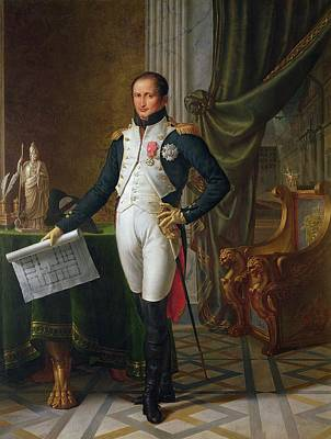 Athena Photograph - Portrait Of Joseph Bonaparte 1768-1844 King Of Spain, 1808 Oil On Canvas by Jean Baptiste Joseph Wicar
