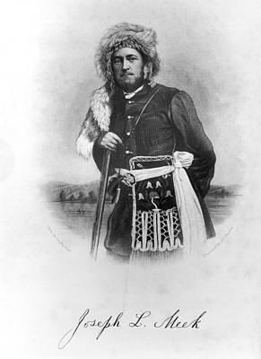 Portrait Of Joseph L. Meek Art Print by Underwood Archives
